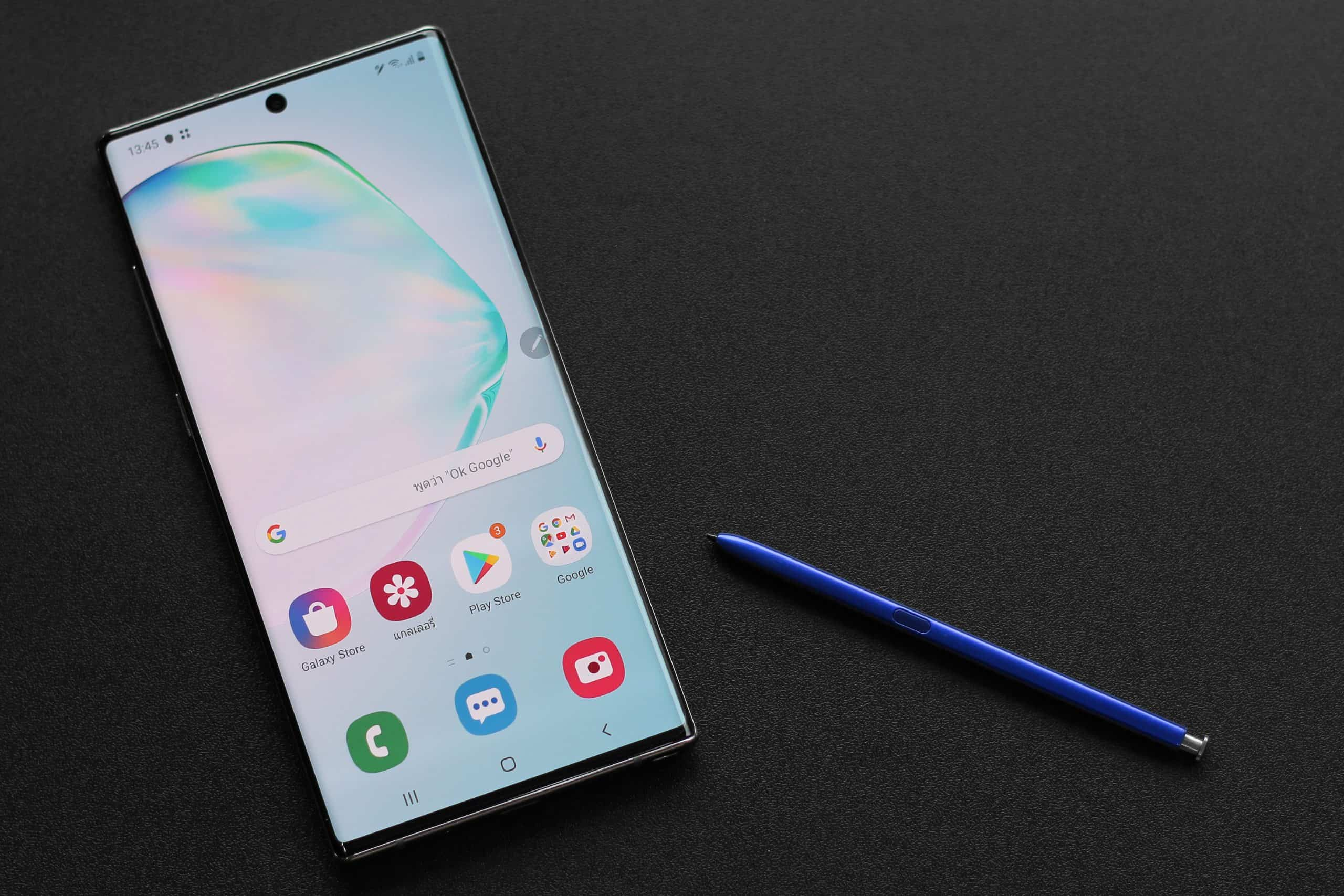 Note 10 with Blue S Pen